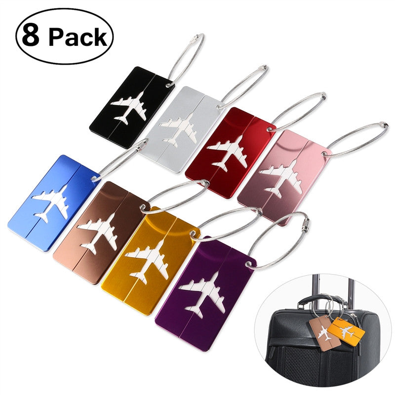 Aluminum Air Plane Luggage Tags - Red-Hautecouture