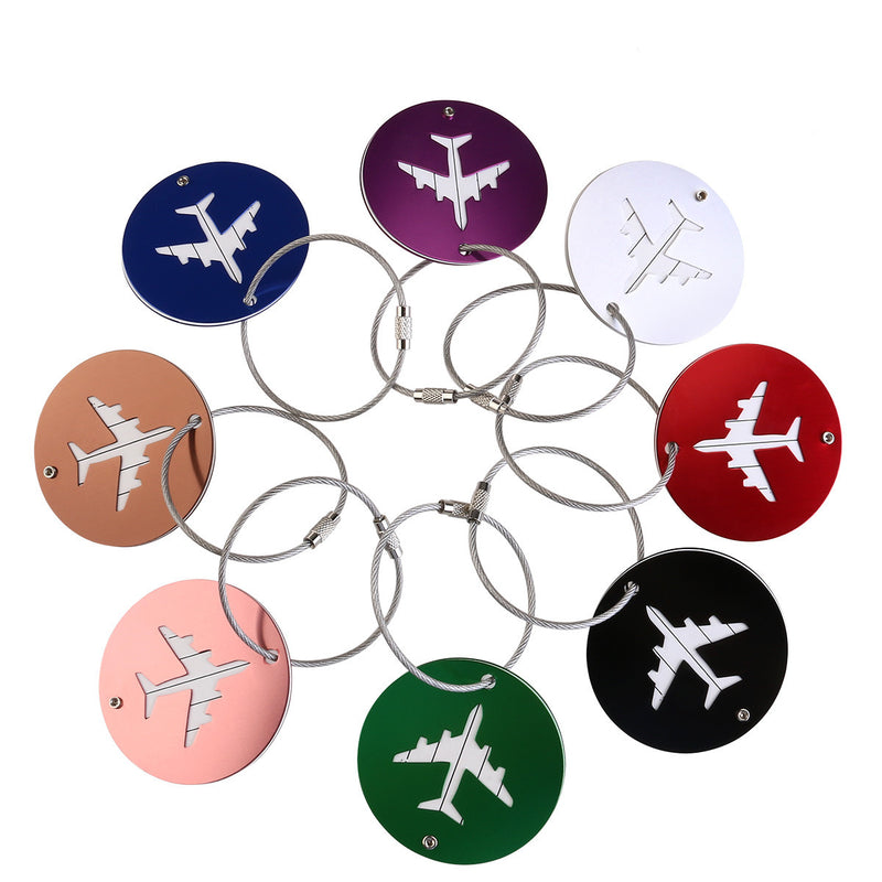 8pcs Aluminum Air Plane Tag - Red-Hautecouture