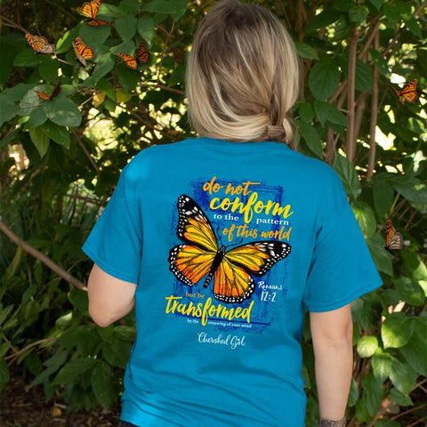 Cherished Girl T Shirt Transformed Butterfly