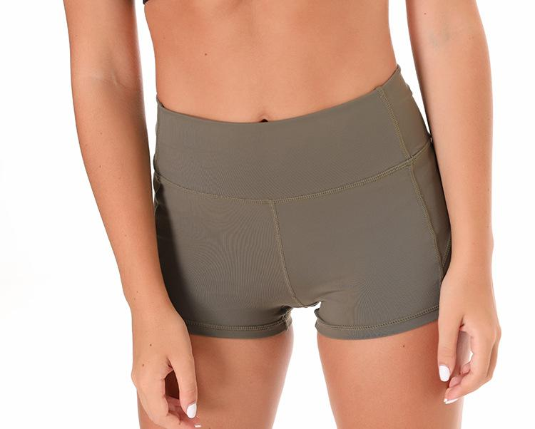 Micro Biker Short in Light Olive