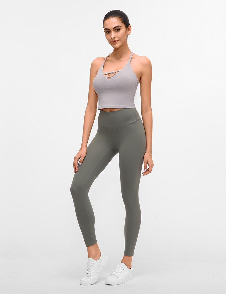 No.3 High Waisted Legging in Stone