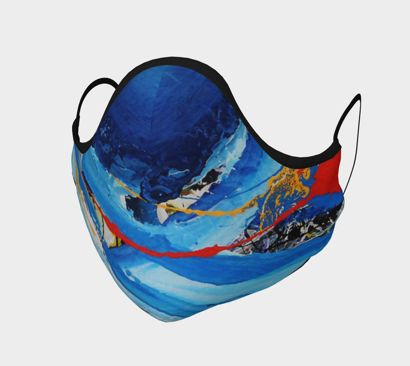Blue Fabric Face Mask - Face Covering