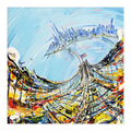 Bridge from Above Canvas Wrap - 24x24 inch