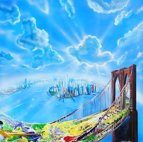 Brooklyn Bridge NY Original Painting