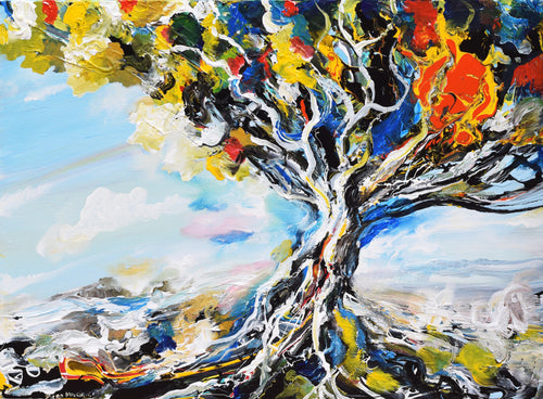 Colorful Tree Original Painting - Original Paintings