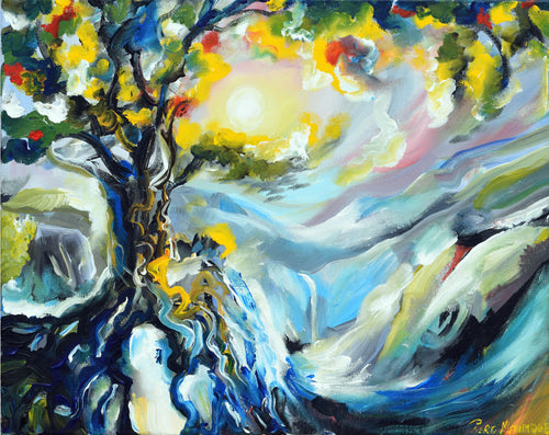 Golden Nature Original Painting - Original Paintings