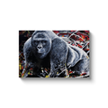 Harambe Canvas Wraps - Black Wrap / 16x24 inch