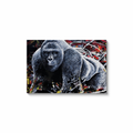 Harambe Canvas Wraps - Black Wrap / 32x48 inch
