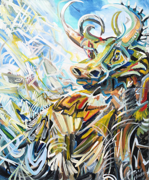 Magic Bull Original Painting - Original Paintings
