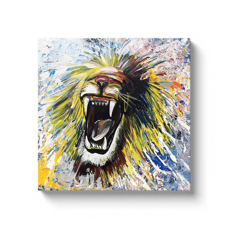 Roar Canvas Wraps - Black Wrap / 20x20 inch