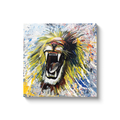 Roar Canvas Wraps - Black Wrap / 24x24 inch