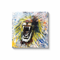 Roar Canvas Wraps - Black Wrap / 30x30 inch