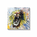Roar Canvas Wraps - Black Wrap / 36x36 inch