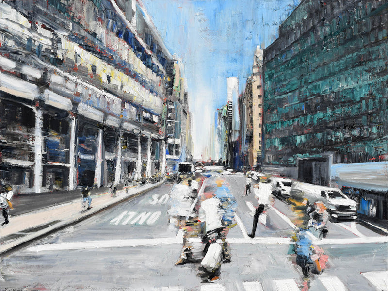 Street Motion Original Painting