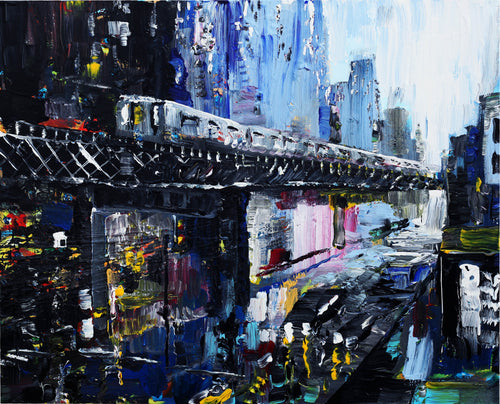 Subway Original Painting