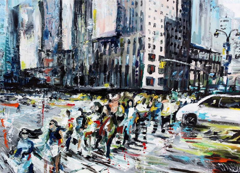 Walking on the Street - Original Paintings