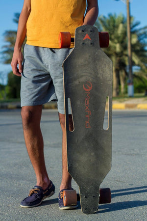 maxfind longboard with a man