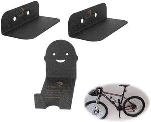 Maxfind Bicycle Wall Hanger Storage Wall Metal Holder (2 In 1)-ST37 High-carbon Steel