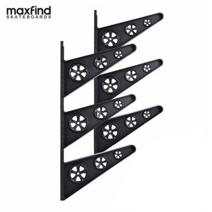 Maxfind Skateboard Rack Wall Hanger Wall Storage Clip Skateboard Wall Rack Wall Mount