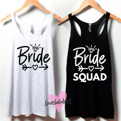 Bride & Bride Squad | Bachelorette Party Tanks