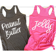 Peanut Butter & Jelly | Big and Little Sorority Tanks