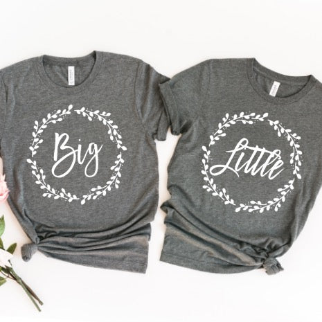 Big Little Greek Wreath Sorority Shirts