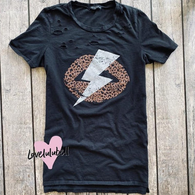 Bolt Distressed Tee