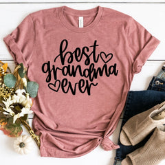 BEST GRANDMA EVER SHIRT IN COLOR MAUVE (PINK)