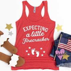 Expecting a Little Firecracker | Tank Top