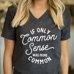 If only common sense was common