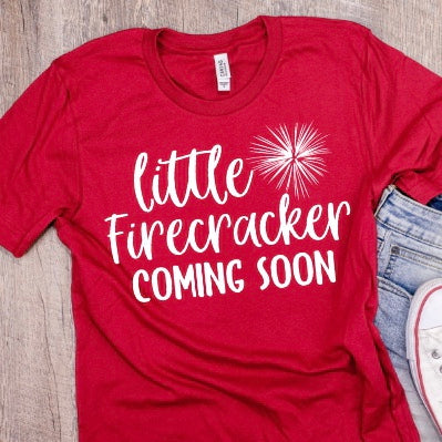 Little Firecracker Coming Soon | Unisex Crewneck