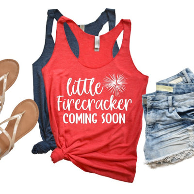 Little Firecracker Coming Soon | Tank Top