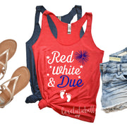 Red, White and Due | Tank Top