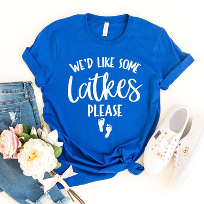 We'd Like Some Latkes Please | Hanukkah Pregnancy Announcement