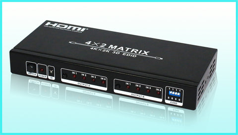 4 INPUT 2 OUTPUT HDMI MATRIX SWITCHER/SPLITTER