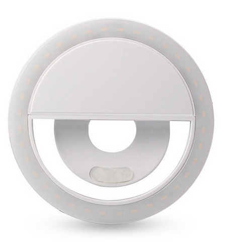 USB RECHARGEABLE LED SELFIE RING CLIP ON LIGHT