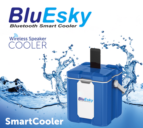 12L PORTABLE BLUESKY ICE COOLER WITH BLUETOOTH SPEAKER AND POWER BANK