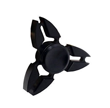 METAL FIDGET HAND SPINNER - BLACK TRI-SPOKE