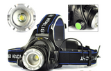 RECHARGEABLE 550 LUMENS HIGH POWER CREE XML LED HEAD LAMP TORCH