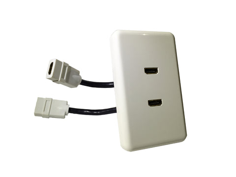 DOUBLE HDMI WALL PLATE SOCKET