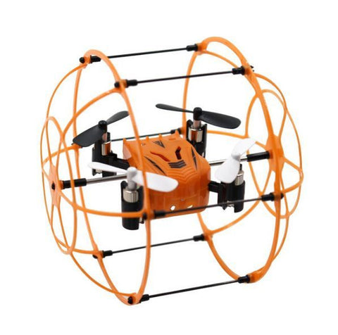 RC MINI DRONE WITH ROLL CAGE 4 CH 2.4GHZ 6 AXIS GYRO QUADCOPTER