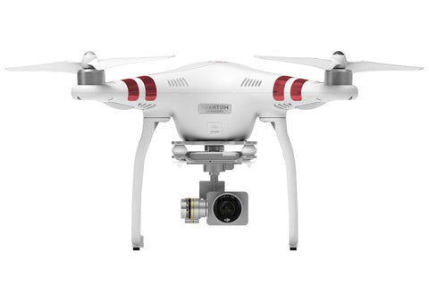 DJI PHANTOM 3 FPV DRONE WITH 12MP HD VIDEO CAMERA AND CONTROLLER - FREE HARD CASE