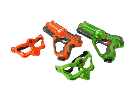 2 PLAYER LASER TAG GUN WITH MASK