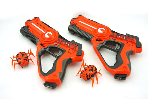 2 PLAYERS LASER TAG GUN WITH ROBOTIC ALIEN BUGS SET