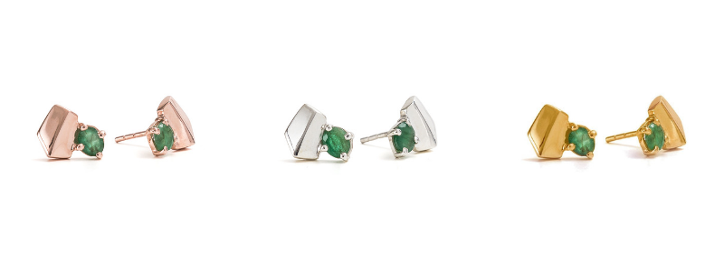 Cathy Pope Emerald Earrings