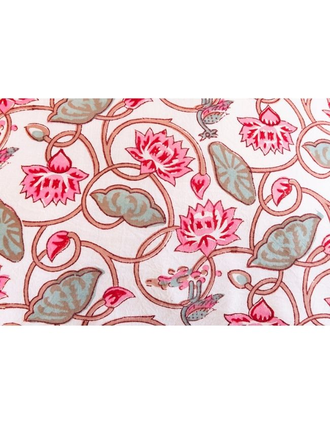 Pink Lotus Pillow Case Set