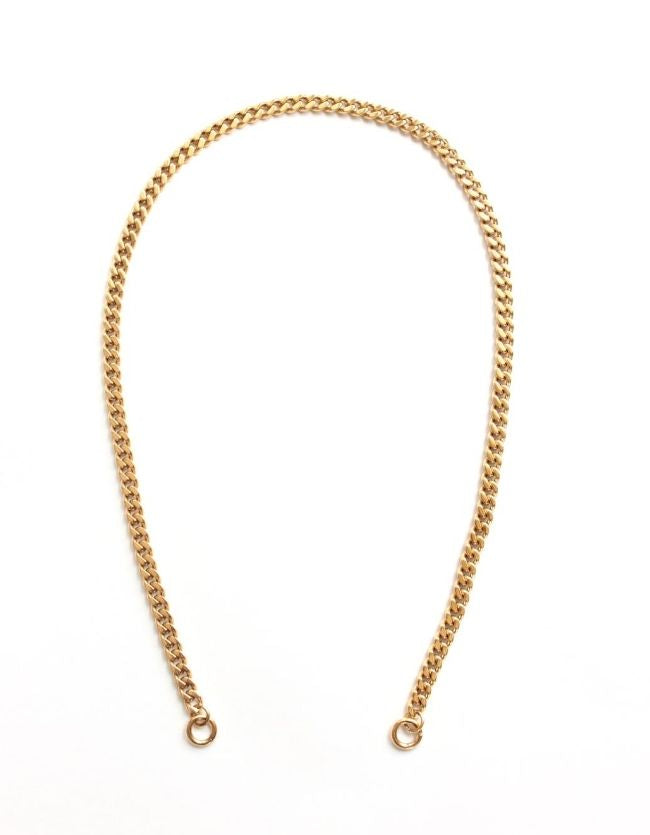 Curb Gold Chain Long/Short - Plain (no clasp)