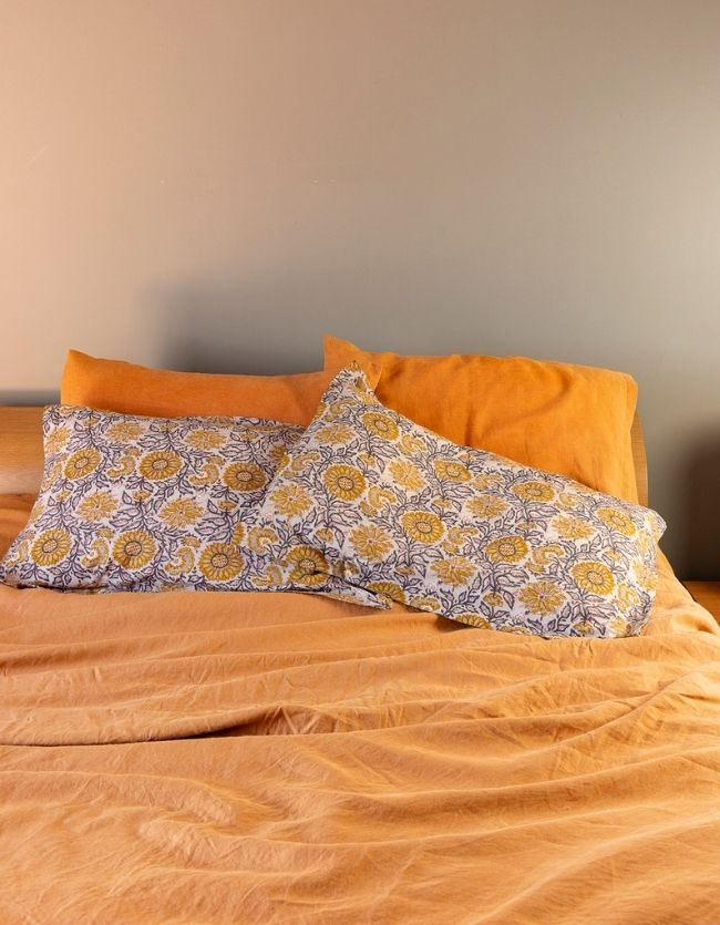 Ochre & Indigo Pillow Case Set