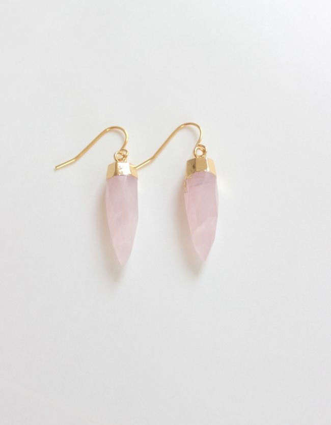 Rose Quartz Pointed Drops