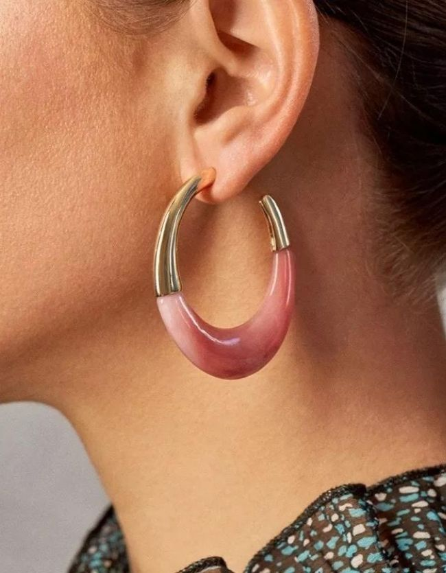 Pink & Gold Hoops